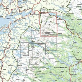 Calazo Kebnekaise, Abisko & Riksgränsen 1:50.000